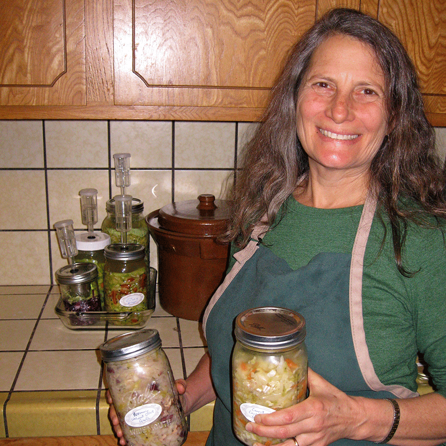 Beth-with-sauerkraut