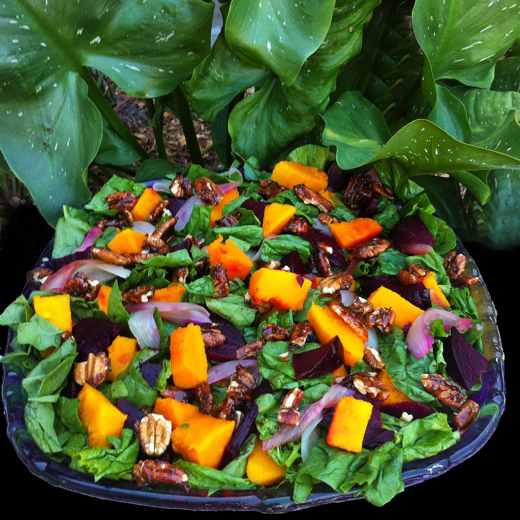 Spinach-Salad-with-Candied-Pecans-and-Roasted-Veggies-Two-Ways-(Version-2)-1